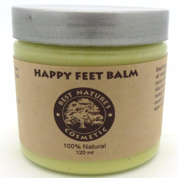 Happy Feet Balm - to cool down pain, reduce burning, gives relaxing uplifted feel to your skin. 4oz / 120 ml - All Therapeutic
