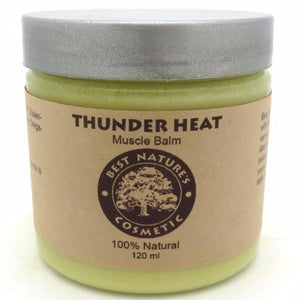 Thunder Heat Muscle Balm - to cool down pain, reduce burning, gives relaxing uplifted feel to your skin. 4oz / 120 ml. - All Therapeutic