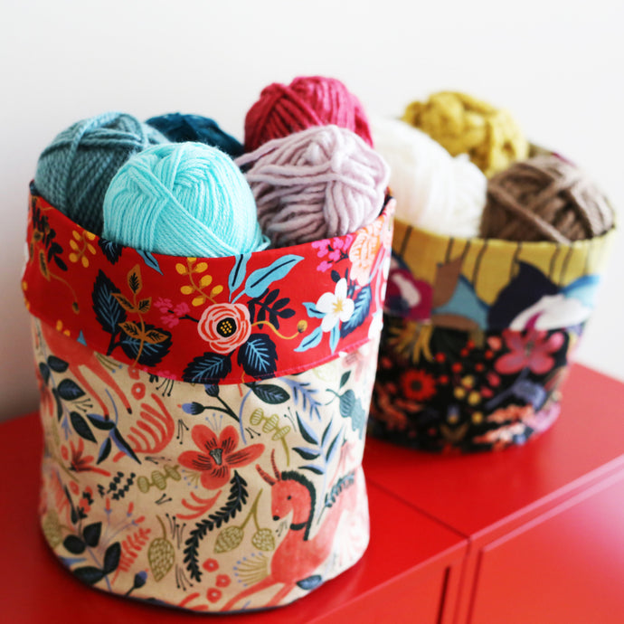 Make a Double-Sided Fabric Basket