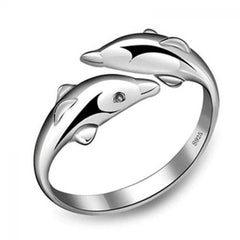 Silver Plated Dolphin Ring - DAX ACCESSORIES