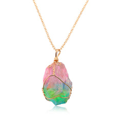 Crystal Rainbow Stone Necklace