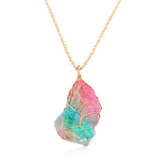 Crystal Rainbow Stone Necklace - DAX ACCESSORIES