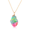 Image of Crystal Rainbow Stone Necklace - DAX ACCESSORIES