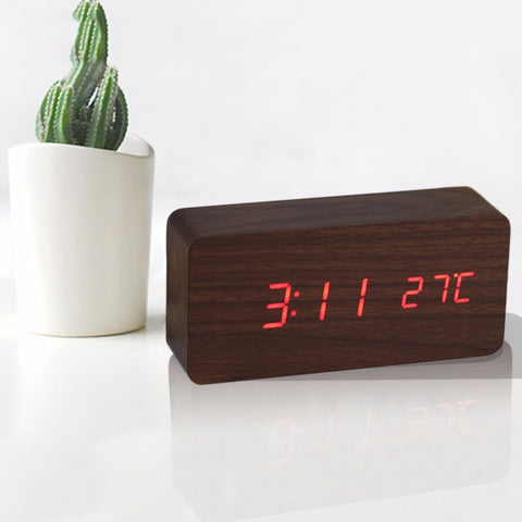 Wooden Digital Alarm Clock - DAX ACCESSORIES