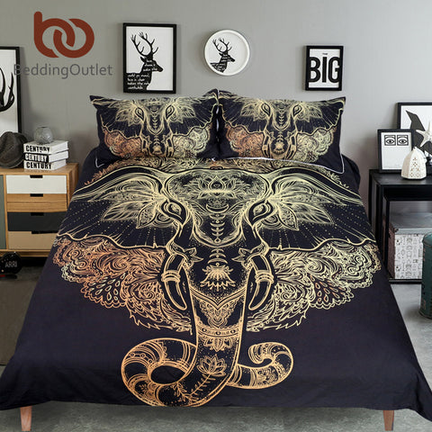 Tribal Elephant Bedding Set - DAX ACCESSORIES