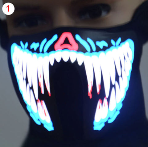 Electroluminescent Sound-Activated Mask