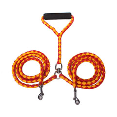 Braided Double Dog Leash
