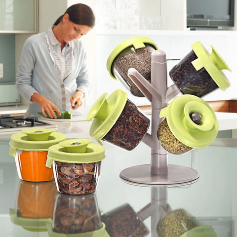 6PC Spices Jar Rack - DAX ACCESSORIES
