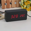 Image of Wooden Digital Alarm Clock - DAX ACCESSORIES