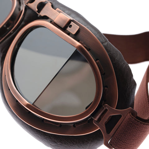 Vintage Steampunk Motorcycle Goggles - DAX ACCESSORIES
