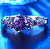 Image of Limited Edition White Gold Plated Amethyst Birthstone Ring - DAX ACCESSORIES