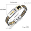 Image of Stainless Steel Cross Bracelet Homme Men Jewelry Gold Color Punk Heavy Metal Accessories 2017 Fashion Mens Bracelets & Bangles - DAX ACCESSORIES