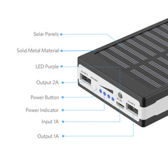 Solar Power Bank External Battery