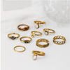 Image of 10 PC Statement Ring Set Antique Tibetan Knuckle Rings - DAX ACCESSORIES