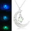 Image of Crescent Moon Glow Necklace - DAX ACCESSORIES