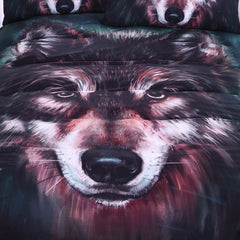 Wolf Bedding Set Painting 3D 3pcs Set