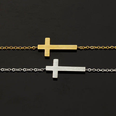Jesus Sideways Cross Bracelet - DAX ACCESSORIES