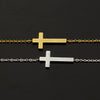 Image of Jesus Sideways Cross Bracelet - DAX ACCESSORIES
