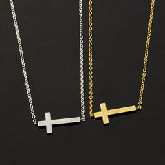 Jesus Sideways Cross Bracelet