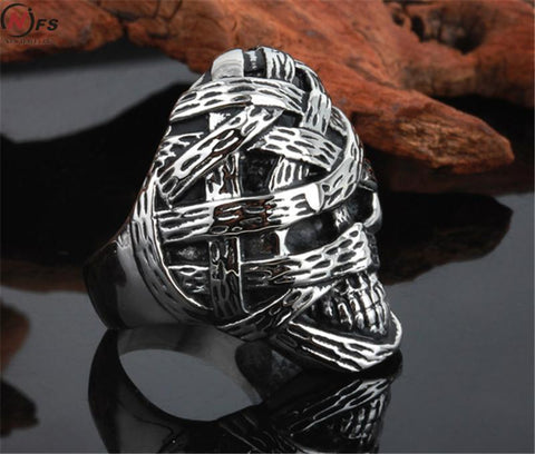 Head Biker Skull Ring - DAX ACCESSORIES