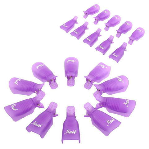 10PC Gel Polish Remover Clips - DAX ACCESSORIES