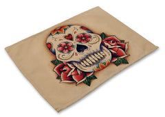 Skull Dining Table Placemat