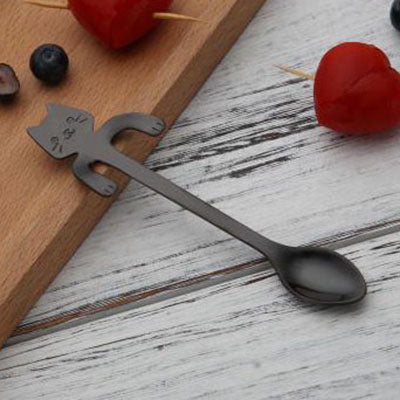 Stainless Steel Cat Teaspoons - DAX ACCESSORIES