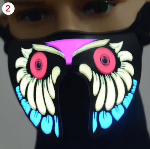 Electroluminescent Sound-Activated Mask - DAX ACCESSORIES