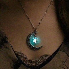 Crescent Moon Glow Necklace - DAX ACCESSORIES