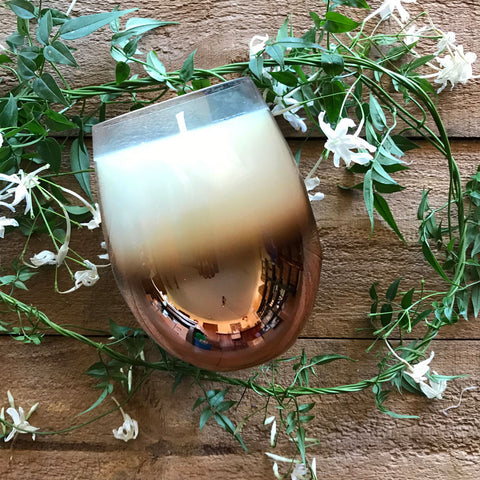 Copper Stemless Soy Candle || Luxe Soy Candle
