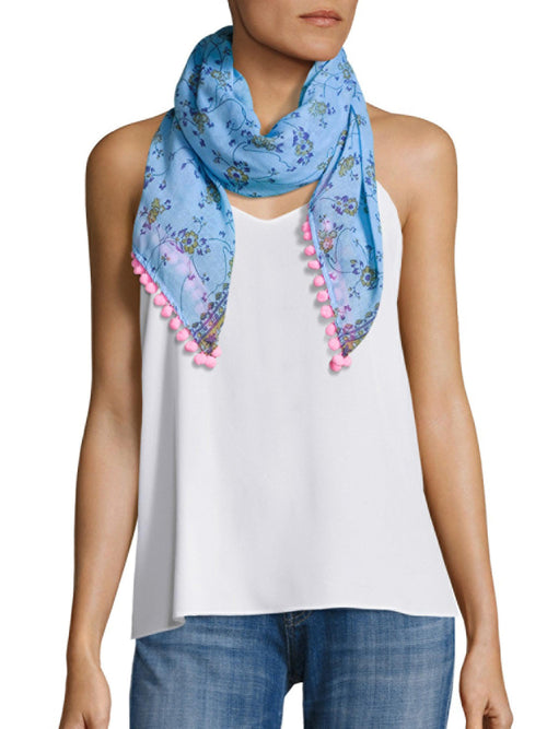 Scarf Chacha - Blue and Pink