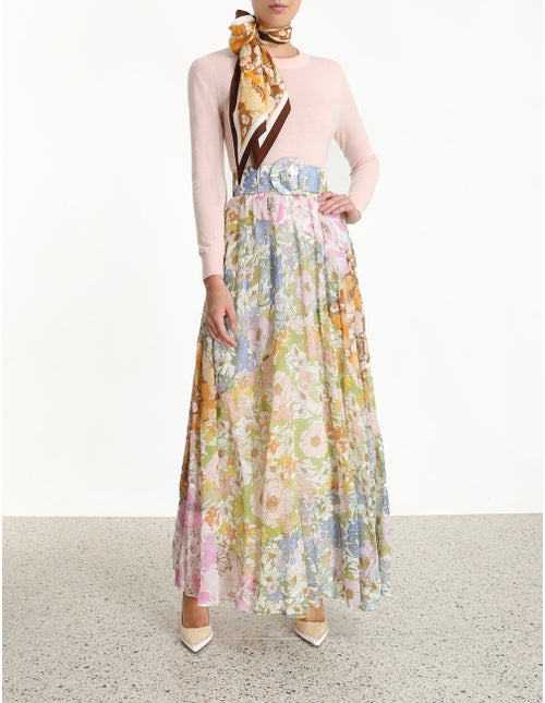 Super Eight Maxi Flower Skirt