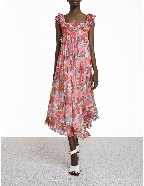 Poppy Frill Edge Midi Dress , ZIMMERMANN - Moda Boheme