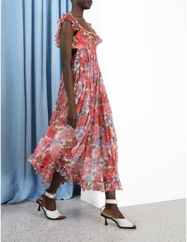 Flowi  Silk Midi Dress by Zimmerman