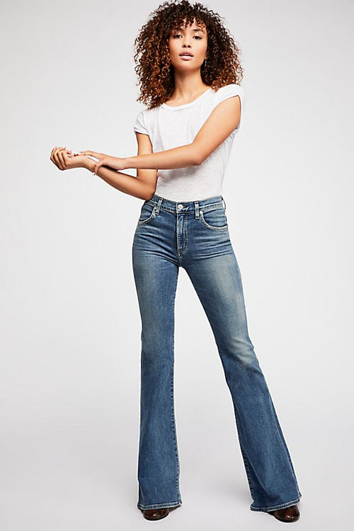 Chloe Mid Rise Flare Jeans - Serenity , CITIZENS OF HUMANITY - Moda Boheme