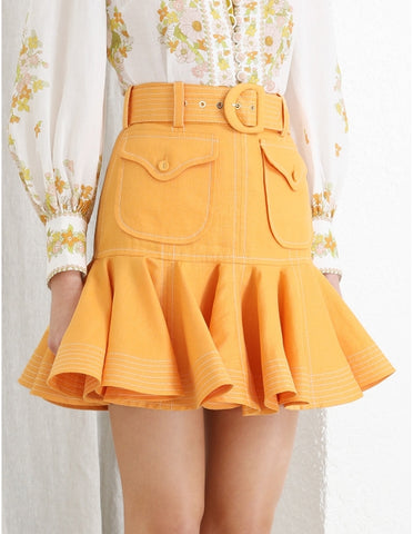 MALLORCA SKIRT- YELLOW