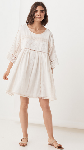 Abigail Lace Mini Dress - White
