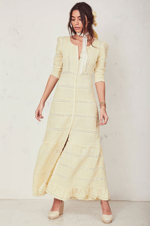 Adrianne Dress - Gilded Yellow