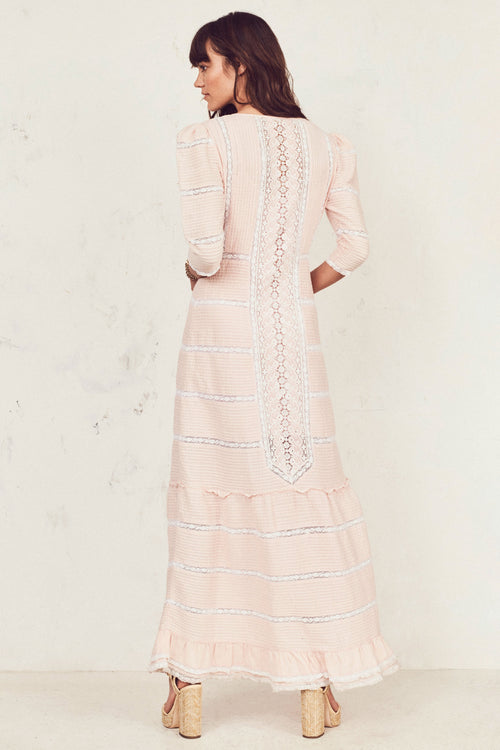 Adrianne Dress - Pearly Pale Pink
