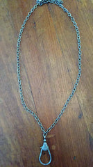 Sterling Silver Chain with Diamonds Two Sided Lock , BOHEME FINE JEWELRY - Moda Boheme