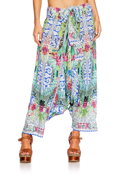 Bahia Bliss Harem Pants With Side Split
