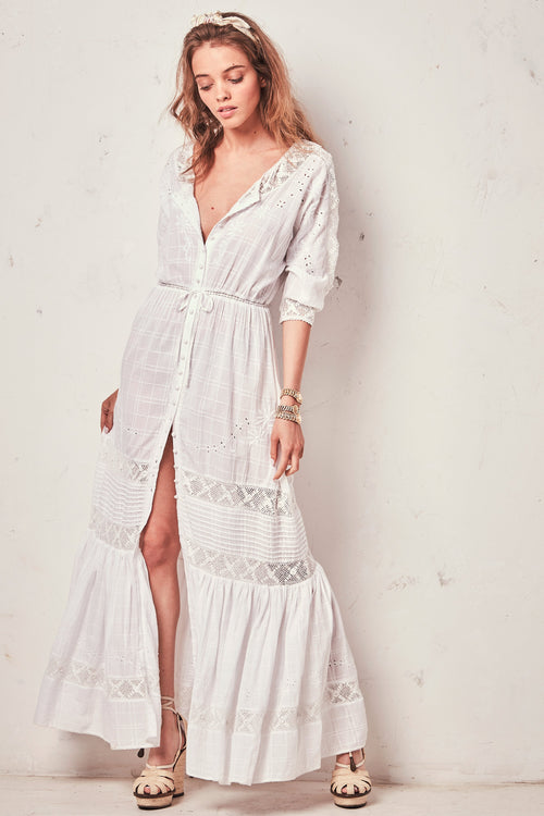 Callan Dress - White