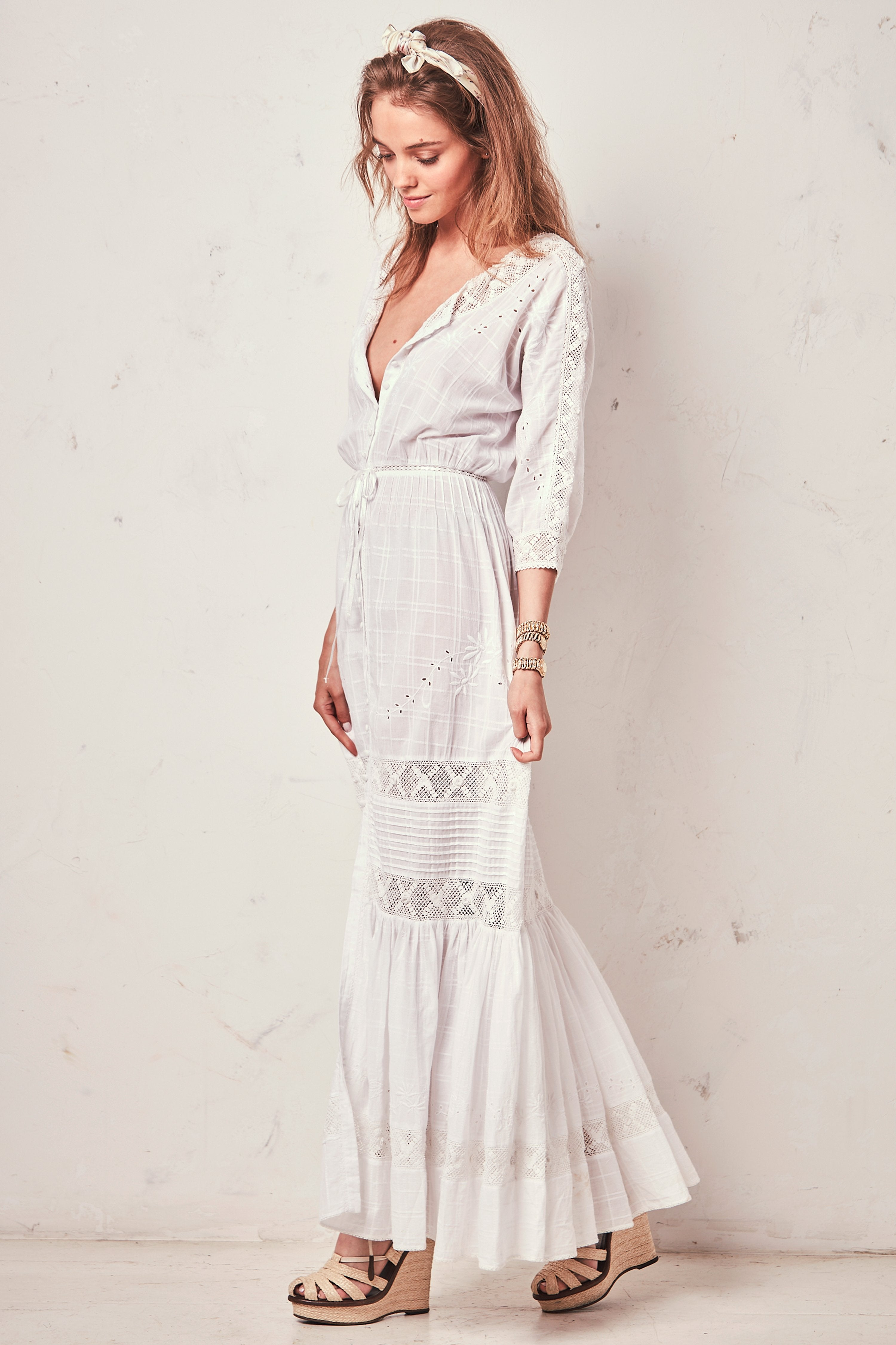 Callan Dress - White , LOVE SHACK FANCY - Moda Boheme