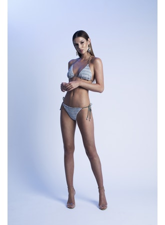 EMBROIDERED LUREX TRIANGLE BIKINI , CHIO - Moda Boheme