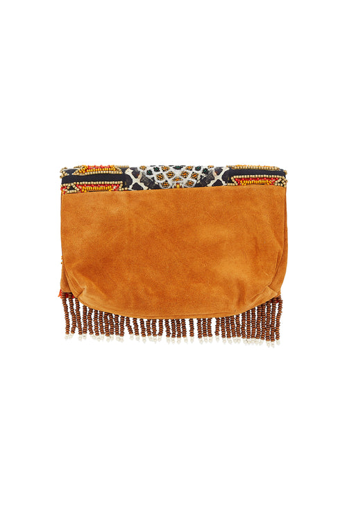 Dawn of Time Embellished Clutch