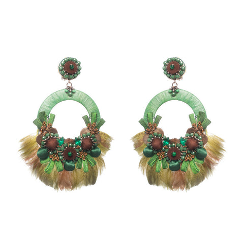 Kiwi Earrings by Ranjana Khan