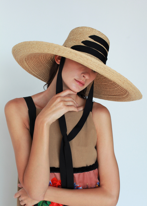 Espartina Hat - Black , LOLA HATS - Moda Boheme
