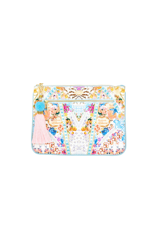 Girl Next Door Small Canvas Clutch