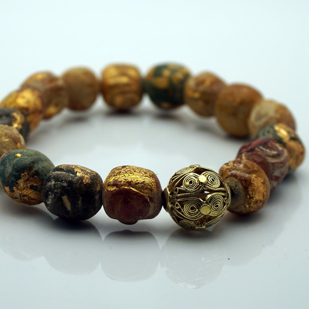 Beads and Gold Leaves Bracelet , BOHEME JEWELRY - Moda Boheme