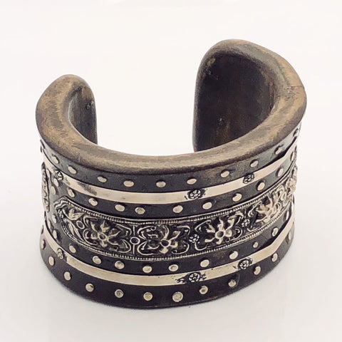 Antique Tibetan Silver Cuff